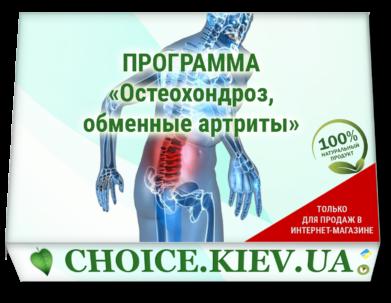 ПРОГРАММА «Остеохондроз, обменные артриты»
